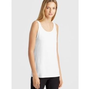 NEW EILEEN FISHER White Viscose Jersey Tank Size L